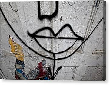 Graffiti Smile Nyc Canvas Print