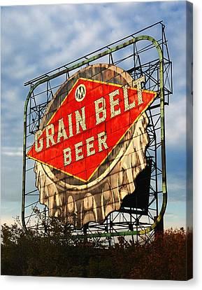 Grain Belt Beer Sign Canvas Print by Jim Hughes