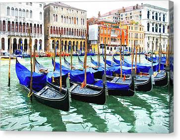 Grand Canal In Venice Canvas Print by Mel Steinhauer