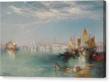 Grand Canal  Venice Canvas Print by Thomas Moran