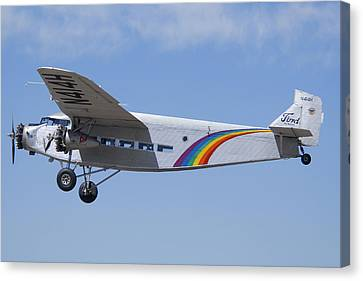 Grand Canyon Airlines Ford 5-at-c Trimotor N414h Valle Az Canvas Print