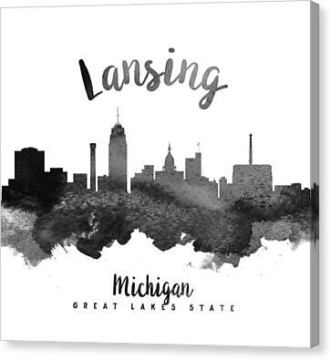 Grand Rapids Michigan Skyline 18 Canvas Print by Aged Pixel