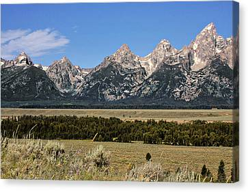 Grand Teton Wy Canvas Print by Christine Till