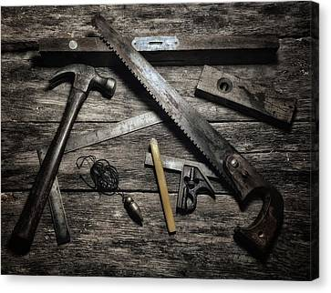 Canvas Print featuring the photograph Granddad's Tools by Mark Fuller