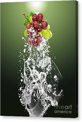 Grape Splash Canvas Print by Marvin Blaine