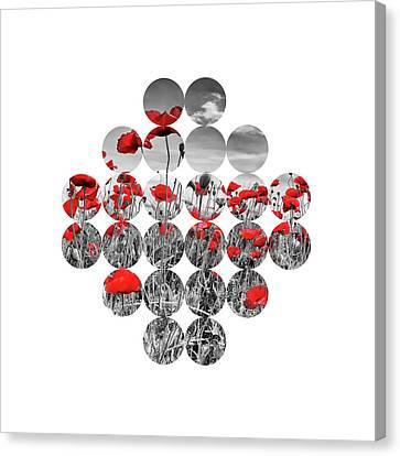 Magnoliopsida Canvas Print - Graphic Art Poppies  by Melanie Viola