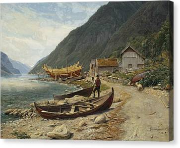 Fearnley Canvas Print - Gravensfjord by Thomas Fearnley