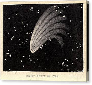 Great Comet Of 1744 Canvas Print by Science Source
