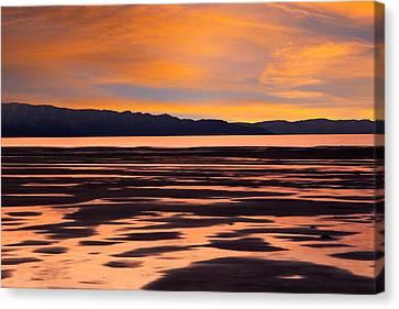 Great Salt Lake Sunset Canvas Print by Utah Images
