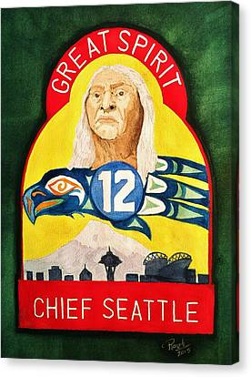 Great Spirit Seattle 12s Canvas Print