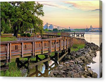 Canvas Print - Greater Charleston War Memorial Park by Donnie Smith