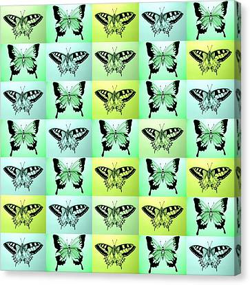 Green Butterfly Fantasy Canvas Print by Cathy Jacobs
