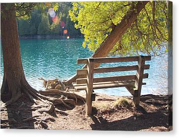 Green Lakes Canvas Print by David Stasiak