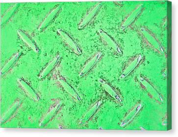 Green Metal Canvas Print