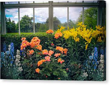 Greenhouse Garden Canvas Print by Jessica Jenney