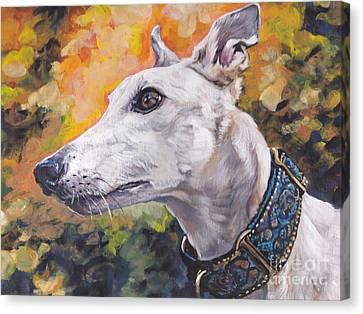 Greyhound Portrait Canvas Print