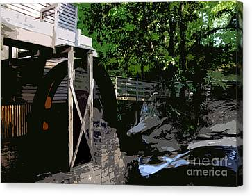 Grist Canvas Print - Grist Mill by David Lee Thompson