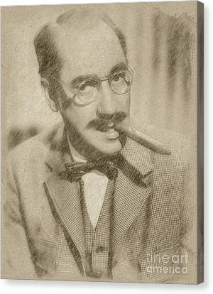 Groucho Marx Canvas Print by Frank Falcon