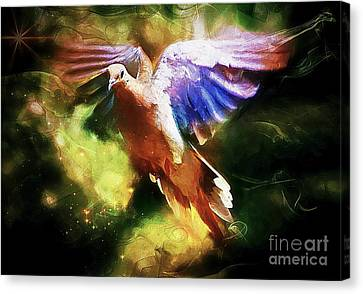 Guardian Angel Canvas Print by Tina  LeCour