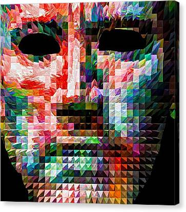 Guess This Person. Do You Know Who It Canvas Print by David Haskett