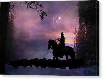 Cattle Run Canvas Print - Guiding  Light by Stephanie Laird