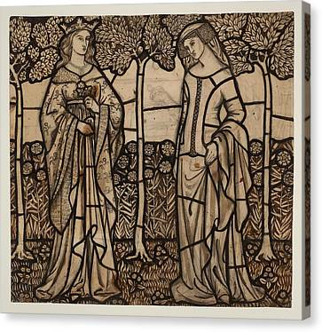 Guinevere And Iseult Canvas Print by William Morris