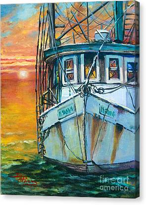 Canvas Print featuring the painting Gulf Coast Shrimper by Dianne Parks