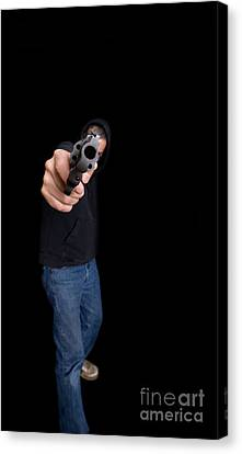 Thriller Canvas Print - Gun Man by Edward Fielding