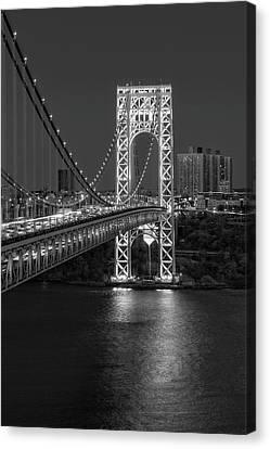 Gw Bridge At Twilight Canvas Print