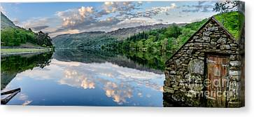 Gwynant Lake  Canvas Print by Adrian Evans