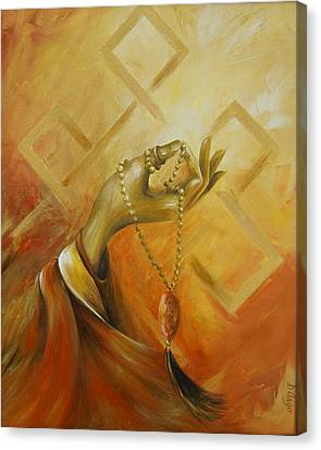 Canvas Print featuring the painting Gyan Mudra by Dina Dargo