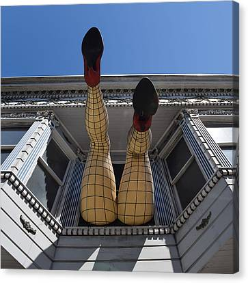 Canvas Print featuring the photograph Haight And Ashbury Legs by Dany Lison