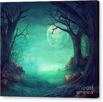 Halloween Background Canvas Print