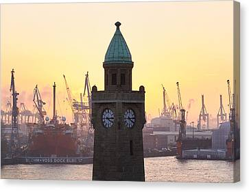 Canvas Print - Hamburg Sunset by Marc Huebner