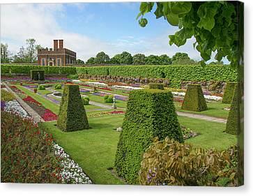 Canvas Print featuring the photograph Hampton Palace Gardens by Elvira Butler