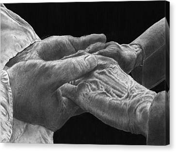 Hands Of Love Canvas Print by Jyvonne Inman