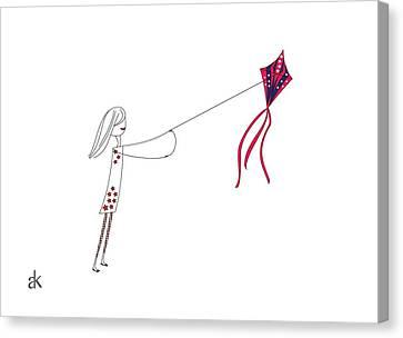 4th July Canvas Print - Happy by Ani Khachatryan
