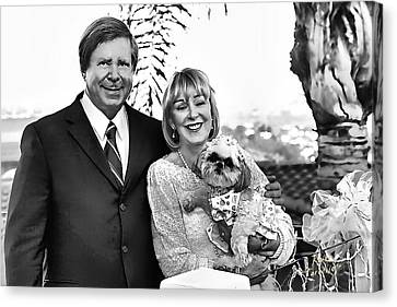 Canvas Print featuring the photograph Happy Anniversary Ron And Barb by Kathy Tarochione