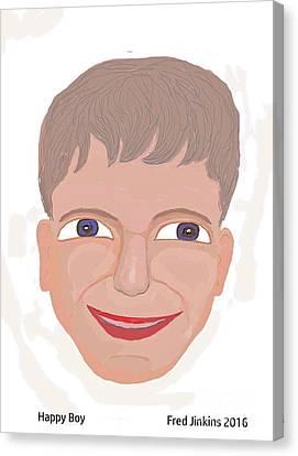 Happy Boy Canvas Print by Fred Jinkins