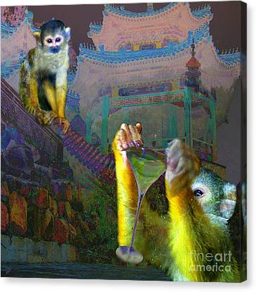 Year Of The Monkey Canvas Print - Happy Chinese New Year by LemonArt Photography