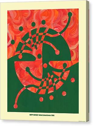 Happy Fantasy Canvas Print by Heike Schenk-Arena