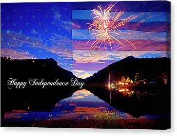 Happy Independence Day Canvas Print by James BO Insogna