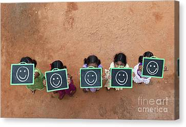 Canvas Print featuring the photograph Happy Smiley Faces by Tim Gainey