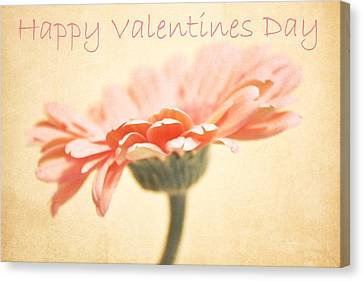 Happy Valentines Day Canvas Print by Cathie Tyler
