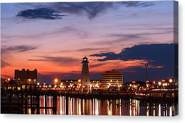 Harbor Lights Canvas Print by Brian Wright
