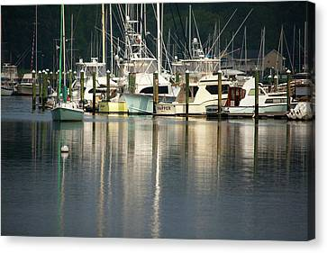 Harbor Reflections Canvas Print by Karol Livote
