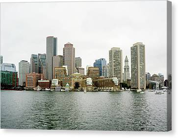 Canvas Print featuring the photograph Harbor View by Greg Fortier