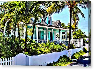 Harbour Island Home Canvas Print by Anthony C Chen