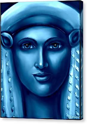 Hathor -egyptian Goddess Canvas Print by Carmen Cordova