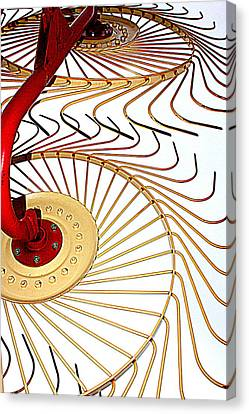 Hay Rake Canvas Print by Gina  Zhidov